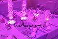 Bateria de lítio recarregável LED RGB vaso Base de luz decoração de mesa em restaurante