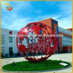 Outdoor Garden Metal Ball Stainless Steel Sculpture for Sale