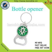 custom stainess steel spider logo bottle opener keychain