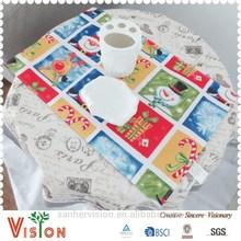 cheap fabric snowman table mat