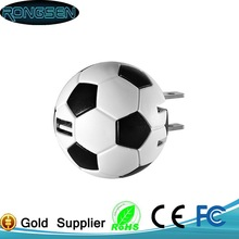 Cell phone power adapter supply football shape charges 5V 1a for Samsung smartphone zhongshan factory electron product