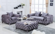 Popular Purple Royal Velvet Sofa