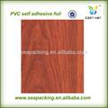 design clássico de pvc auto adesivo folha de acabamento em madeira para decoração de paredes