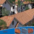 Couleur bardeaux / pierre métal revêtu toit en tuiles bardeaux
