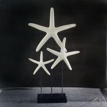three starfish polystone decorative ornament