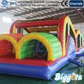gigante de pvc para adultos carrera de obstáculos inflables