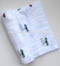 Popular printed cotton baby muslin blanket