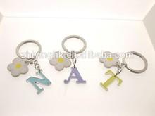 Fashion Fancy Charm Blue Purple Yellow Letter Key Chain