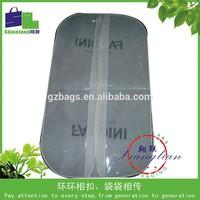 PVC window custom logo printed clear hair extension bag with zipper