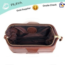 Top Quality Travel Bag Men Leather Toiletry Bag