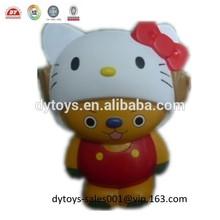 22cm vinyl bear shape coin bank bear with kitty hat money box ICTI factory OEM /ODM