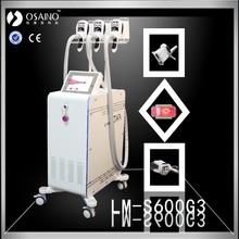 White Color 100 pieces pad free fat freezing probe portable cryolipolysis machine 3 handles