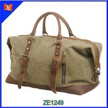European style canvas travel duffle bag,big capacity canvas duffle bag