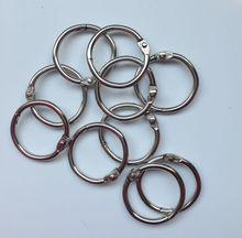 20mm silver metal o ring/book ring