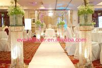 Tall crystal column wedding ,walkway leading road