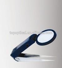 Beauty handheld plastic tweezer magnifier with led light