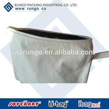 Natural cotton comestic bag, jute bag with zipper, cotton fabric pen cases