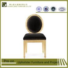 Egypt style hotel vanity chair \black velvet and gold frame chair \hotel furniture