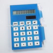 8 digits plastic calculator memo pad with ball pen