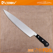 10 inch high quanlity plastic chip carving knife witn sarrow blade 3CR13 black color