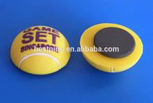 3d rubber game set singapore ball shape fridge magnets