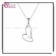 Heart Shaped Pendant Necklace Charm Friendship PYH0311