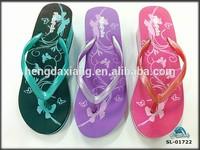 PVC strap high heel EVA wedding beach slippers