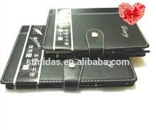 Leather notebook custom logo printing address book,organizer agenda notebook, china notebook
