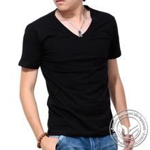 140 grams new style silk/cotton fashion popular brand tshirt men