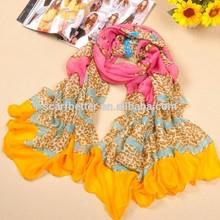 Fashionable Women multi-color chevron infinity scarf