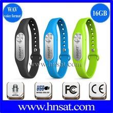 the popular digital mini spy device recorder, the voice recorder bracelet with timer