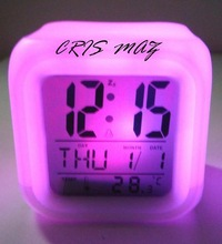 wholesale price wake up light alarm clock,white led alarm clock for kids
