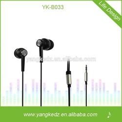 customized high quality fashion microphone earphone for gionee