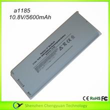 """10.8 V 5600 mAh para apple macbook air 13 """" a1185 blanco de la batería recargable"""