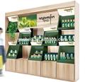 vitrina de madera diseños médica para la decoración de la tienda