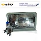 5 inch Square 12V/24VAuto Halogen mirror Semi Sealed Beam Auto Halogen Lamp Install H4 or HID H4 Xenon Bulb headlight