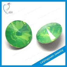 Wuzhou redondo verde de murano de la joyería de piedra