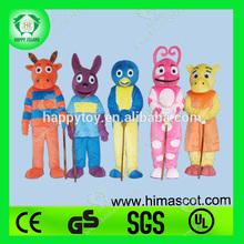 HI CE high quality Backyardigan mascot costume,Christmas Backyardigan costume,cartoon Backyardigan mascot