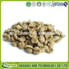 100% extrato natural da planta pó de ácido clorogênico 50% grão de café verde extrato cápsulas