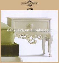 China bedroom furniture white mirrored nightstand