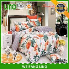 printing cotton home bedding set/bed sheet making machine/duvet cover digital printed