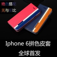 British Style Mixed Color Leather Case For Iphone 6 With Inster Card and Wallet