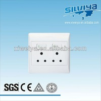 2 gang 2 socket electric wall switch,LED home electrical products