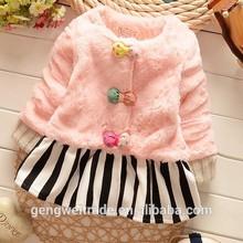 Plush Children Coat Colorful Princess Velvet Coat 2015 On Stock