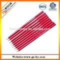 fábrica de suministro de color rojo de madera hb lápiz impreso