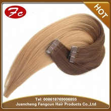 Ombre color two tone remy Indian tape hair extensions