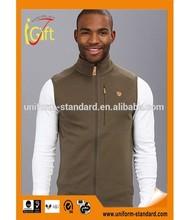 Basic Fit fleece vest secure-zip 100% polyester Micro Fleece cheap bulk china wholesale clothing