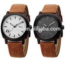 genuine leather quartz brand luxury men watch