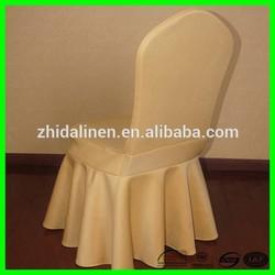 high quality jacquard customize ruffle custom banquet spandex chair covers