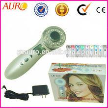 AU-012 promotion Portable Ultrasonic Body Massage Ultrasound Theropy white 7 color light